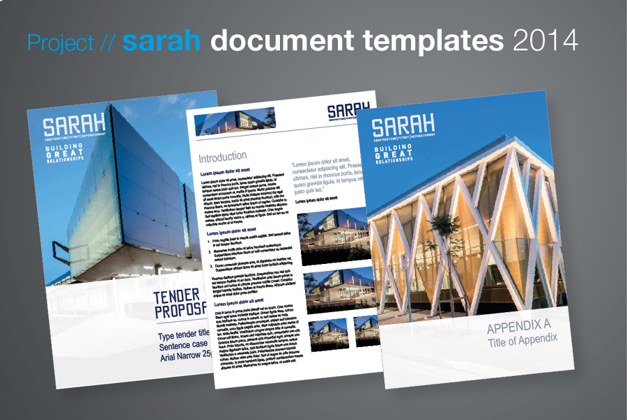 Sarah Document Templates - Anita Gibbs Graphic Design, Freelance